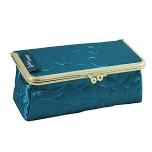 Retro Chic Cosmetic Bag/Eyeglass Case Turquoise