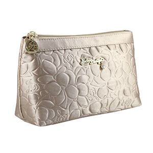 Retro Chic Flat Cosmetic Bag Champagne