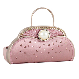 Retro Chic Handbag Jewelry Organizer and Card Holder Blush