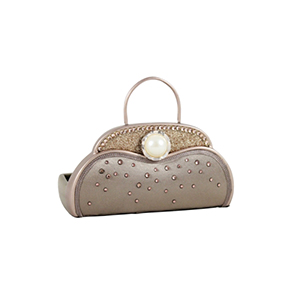 Retro Chic Handbag Jewelry Organizer and Card Holder Champagne