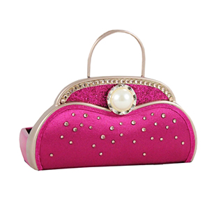 Retro Chic Handbag Jewelry Organizer and Card Holder Hot Pink