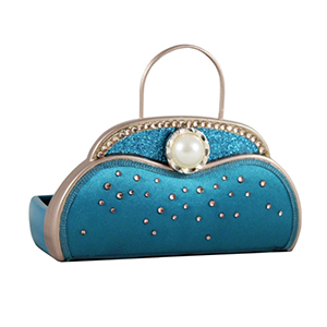 Retro Chic Handbag Jewelry Organizer and Card Holder Turquoise