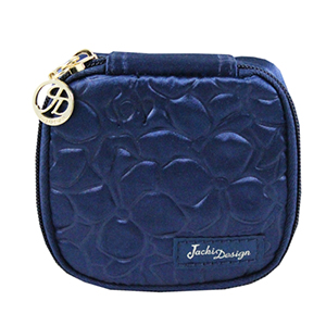 Retro Chic Jewelry Bag (Small) Navy Blue