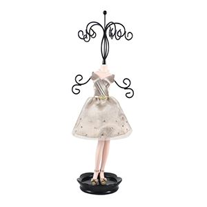 Retro Chic Mannequin Jewelry Holder Champagne