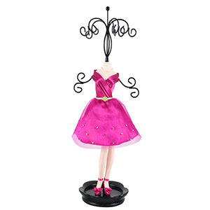 Retro Chic Mannequin Jewelry Holder Hot Pink