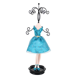Retro Chic Mannequin Jewelry Holder Turquoise
