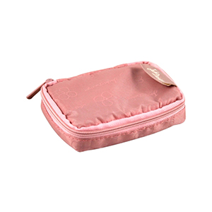 Retro Chic Pill Box with Bag Blush