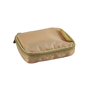 Retro Chic Pill Box with Bag Champagne