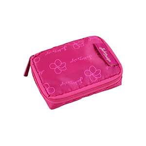 Retro Chic Pill Box with Bag Hot Pink