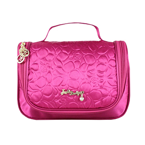 Retro Chic Travel Bag with Hanger Hot Pink