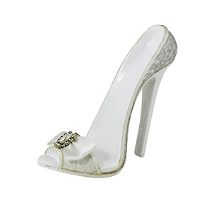 Romance Lace Collection Bridal Shoe Tablet Holder