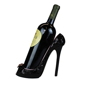 Romance Lace Collection Heeled Shoe Wine Bottle Holder
