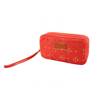 Sassy and Bright Bag with Wristlet Coral