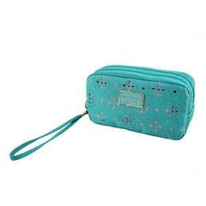Sassy and Bright Bag with Wristlet Emerald