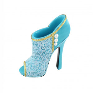 Sassy and Bright Boot Cosmetic Brush Holder Blue