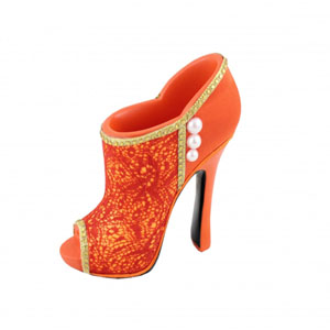 Sassy and Bright Boot Cosmetic Brush Holder Coral