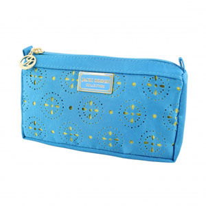 Sassy and Bright Compact Cosmetic Bag Blue