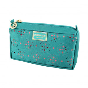 Sassy and Bright Compact Cosmetic Bag Emerald