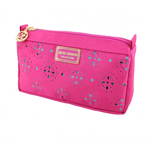 Sassy and Bright Compact Cosmetic Bag Hot Pink