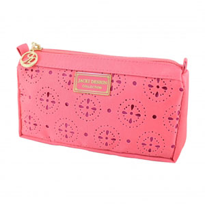 Sassy and Bright Compact Cosmetic Bag Pink