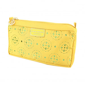 Sassy and Bright Compact Cosmetic Bag Yellow