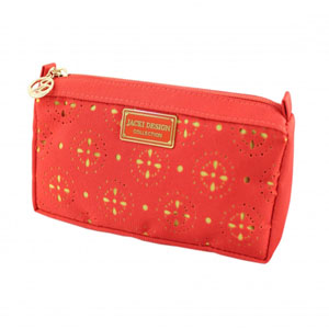 Sassy and Bright Compact Costmetic Bag Coral