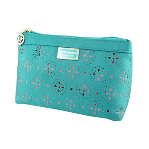 Sassy and Bright Flat Cosmetic Bag Emerald