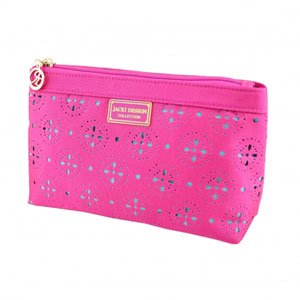 Sassy and Bright Flat Cosmetic Bag Hot Pink