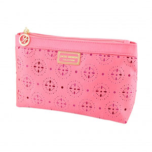 Sassy and Bright Flat Cosmetic Bag Pink