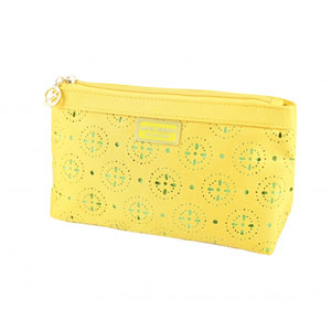 Sassy and Bright Flat Cosmetic Bag Yellow