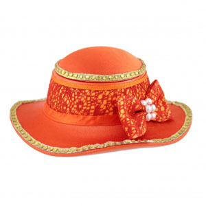 Sassy and Bright Hat Jewelry Box Coral
