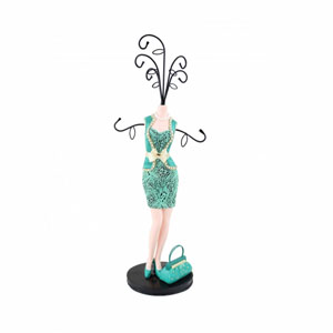 Sassy and Bright Mannequin Jewelry Holder Emerald