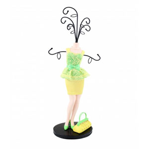 Sassy and Bright Mannequin Jewelry Holder Yellow
