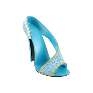 Sassy and Bright Shoe Cell Phone Holder Blue