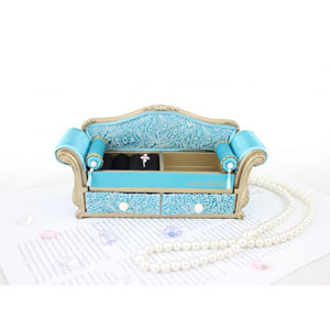 Sassy and Bright Sofa Jewelry Organizer Blue