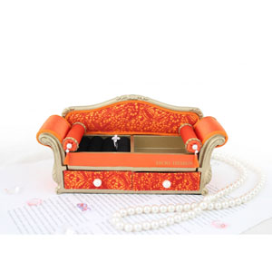 Sassy and Bright Sofa Jewelry Organizer Coral