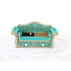 Sassy and Bright Sofa Jewelry Organizer Emerald