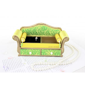 Sassy and Bright Sofa Jewelry Organizer Yellow
