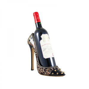 Spikey Leopard Shoe Bottle Holder
