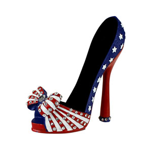 US Flag Collection Heeled Shoe Cell Phone Holder