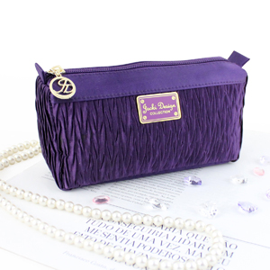 Vintage Allure Compact Cosmetic Bag Purple