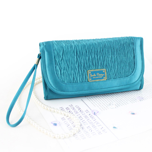 Vintage Allure Foldover Hanging Cosmetic Bag Turquoise