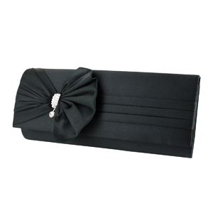Vintage Bow Evening Purse Collection Black
