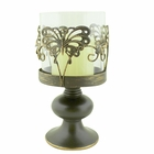 Vintage Bronze Butterfly Candle Holder