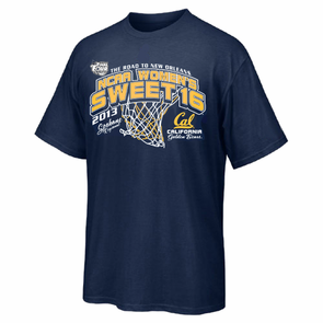California Golden Bears 2013 NCAA Women's Sweet 16 Basketball Tee - Navy - Click to enlarge