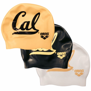 California Golden Bears ARENA Silicone Swim Cap - Click to enlarge