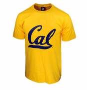 California Golden Bears Big Cursive Logo Short Sleeve Tee II - Gold