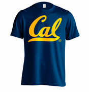 California Golden Bears Big Cursive Logo Short Sleeve Tee II - Navy