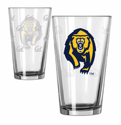 California Golden Bears Boelter Satin Etch Bear Logo Pint Glass