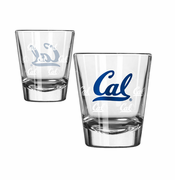 California Golden Bears Boelter Satin Etch Cal Logo 2oz Shot Glass
